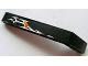 Part No: 32271pb004L  Name: Technic, Liftarm 1 x 9 Bent (7 - 3) Thick with Flames Pattern Model Left (Sticker) - Set 8646