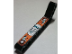 Part No: 32271pb006R  Name: Technic, Liftarm 1 x 9 Bent (7 - 3) Thick with Dark Turquoise, Silver and Orange Gauges and Levers Pattern Model Right (Sticker) - Set 8305