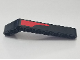 Part No: 32271pb024L  Name: Technic, Liftarm 1 x 9 Bent (7 - 3) Thick with Red Stripe Pattern Model Left Side (Sticker) - Set 8167