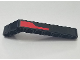 Part No: 32271pb024R  Name: Technic, Liftarm 1 x 9 Bent (7 - 3) Thick with Red Stripe Pattern Model Right Side (Sticker) - Set 8167