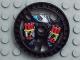 Part No: 32356pb01  Name: Technic, Disk 5 x 5 Dynamite Pattern