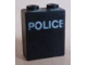 Part No: 3245bpx10  Name: Brick 1 x 2 x 2 with Inside Axle Holder with White 'POLICE' Pattern