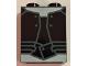 Part No: 3245cpb071  Name: Brick 1 x 2 x 2 with Inside Stud Holder with Dark Bluish Gray Outlined Vest and Belt and White Undershirt Pattern (BrickHeadz Gamora Torso)