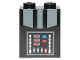 Part No: 3245cpb075  Name: Brick 1 x 2 x 2 with Inside Stud Holder with Dark Bluish Gray Armor and Control Panel with Blue and Red Buttons Pattern (BrickHeadz Darth Vader Torso)