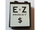 Part No: 3245cpb077  Name: Brick 1 x 2 x 2 with Inside Stud Holder with 'E Z MONEY $' Pattern (Sticker) - Set 71016