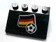 Part No: 3297pb023  Name: Slope 33 3 x 4 with Flag of Germany and Soccer Ball Pattern (Sticker) - Set 3404