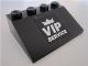 Part No: 3297pb025  Name: Slope 33 3 x 4 with 'VIP SERVICE' on Black Background Pattern (Sticker) - Set 8495