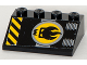 Part No: 3297pb029  Name: Slope 33 3 x 4 with Agents Dr. Inferno Logo and Black and Yellow Danger Stripes Pattern (Sticker) - Set 8633
