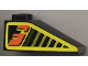 Part No: 3298pb004  Name: Slope 33 3 x 2 with Black Stripes and Orange Number 3 on Yellow Pattern Both Sides (Stickers) - Set 8239
