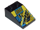 Part No: 3298pb009  Name: Slope 33 3 x 2 with RoboForce Gold 'ROBO' and Blue and Yellow Circuitry Pattern