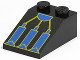 Part No: 3298pb017  Name: Slope 33 3 x 2 with RoboForce Blue and Gold Mechanical Foot Pattern