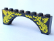 Part No: 3308pb01  Name: Brick, Arch 1 x 8 x 2 with Two Yellow Dragons Pattern