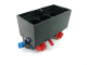 Part No: 3443c10  Name: Train Battery Box Car with Two Contact Holes, Red Switch Lever, Blue and Red Magnets, and Red Wheels