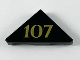 Part No: 35787pb004  Name: Tile, Modified 2 x 2 Triangular with Gold '107' Pattern