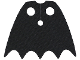 Part No: 35985  Name: Minifigure Cape Cloth, Short, Scalloped 5 Points (Batman) - Spongy Stretchable Fabric