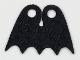 Part No: 36109  Name: Minifigure, Cape Cloth, Short, Scalloped 5 Points (Batman), Tear-Drop Neck Cut - Spongy Stretchable Fabric
