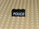 Part No: 3622pb021  Name: Brick 1 x 3 with White 'POLICE' Red Line on Black Background Pattern (Sticker) - Set 6598