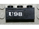 Part No: 3622pb025  Name: Brick 1 x 3 with White `U98' Pattern (Sticker) - Set 7783