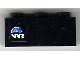 Part No: 3622pb042L  Name: Brick 1 x 3 with Globe and White 'WR' World Racers Logo Pattern Model Left (Sticker) - Set 8899