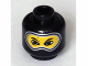 Part No: 3626bpb0180  Name: Minifigure, Head Balaclava with Silver Trim, Nose Hump, Eye Whites Pattern - Blocked Open Stud
