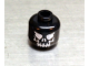 Part No: 3626bpx326  Name: Minifigure, Head Skull Evil with Eyebrows, White Print Pattern - Blocked Open Stud