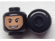 Part No: 3626cpb0664  Name: Minifigure, Head Balaclava with Face Hole, Stubble and Rakish Smile Pattern - Hollow Stud