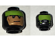 Part No: 3626cpb1616  Name: Minifigure, Head Dual Sided Lime Headband and Cheek Lines / Gas Mask and Lime Goggles Pattern (Batman) - Hollow Stud