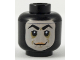 Part No: 3626cpb2123  Name: Minifigure, Head Balaclava with Face Hole, Thick Arched Eyebrows and Smirk Pattern (Screenslaver) - Hollow Stud