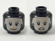 Part No: 3626cpb2276  Name: Minifigure, Head Dual Sided Female Balaclava, Light Flesh Face with Dark Yellow Eyebrows, Peach Lips, Smile / Surprised Pattern - Hollow Stud