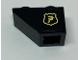 Part No: 3665pb009L  Name: Slope, Inverted 45 2 x 1 with Ninjago Logogram in Crest Pattern Model Left Side (Sticker) - Set 70607