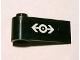 Part No: 3822pb021  Name: Door 1 x 3 x 1 Left with Train Logo White on Black Background Pattern (Sticker) - Set 2126