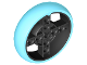 Part No: 39367c01  Name: Wheel 56 x 14 Technic with Axle Hole and 8 Pin Holes with Fixed Medium Azure Rubber Tire