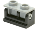 Part No: 3937c08  Name: Hinge Brick 1 x 2 Base with Light Bluish Gray Hinge Brick 1 x 2 Top (3937 / 3938)