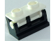 Part No: 3937c14  Name: Hinge Brick 1 x 2 Base with White Hinge Brick 1 x 2 Top (3937 / 3938)