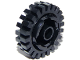 Part No: 3941c01  Name: Brick, Round 2 x 2 with Axle Hole with Black Tire 24mm D. x 8mm Offset Tread (3941 / 3483)
