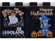 Part No: 4066pb004  Name: Duplo, Brick 1 x 2 x 2 with Halloween 2001 Brick or Treat / Happy Halloween Pattern (Legoland Logo)