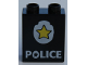 Part No: 4066pb185  Name: Duplo, Brick 1 x 2 x 2 with Star Badge and 'POLICE' on Bottom Pattern