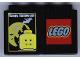 Part No: 4066pb263  Name: Duplo, Brick 1 x 2 x 2 with Halloween 2005 Happy Halloween and Vampire Pattern