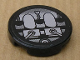 Part No: 4150pb067  Name: Tile, Round 2 x 2 with Gray and Black Machinery Pattern (Sticker) - Set 8634