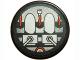 Part No: 4150pb153  Name: Tile, Round 2 x 2 with Gray and Orange Machinery Pattern (Sticker) - Set 8970
