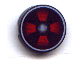 Part No: 4150px20  Name: Tile, Round 2 x 2 with Red Fan Pattern