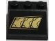 Part No: 4161pb03L  Name: Slope 33 3 x 3 with 3 Gold Metal Plates Pattern Model Left Side (Sticker) - Set 76056