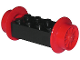 Part No: 4180c04  Name: Brick, Modified 2 x 4 with Wheels, Train Spoked Small (23mm D.) Red Wheels and Pins