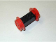 Part No: 4180c05  Name: Brick, Modified 2 x 4 with Wheels, Train Spoked Large (29mm D.) Red Wheels and Pins