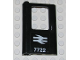 Part No: 4181pb025  Name: Door 1 x 4 x 5 Train Left with British Railways '7722' Pattern (Sticker) - Set 7722