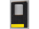 Part No: 4182pb007  Name: Door 1 x 4 x 5 Train Right with Yellow Stripe Pattern (Sticker) - Set 5542
