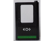 Part No: 4182pb056  Name: Door 1 x 4 x 5 Train Right with Train Logo and Green Horizontal Line Pattern (Sticker) - Set 60154