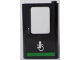 Part No: 4182pb057  Name: Door 1 x 4 x 5 Train Right with Minifigure in Wheelchair and Green Horizontal Line Pattern (Sticker) - Set 60154