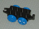 Part No: 4195c02  Name: Duplo, Train Base 2 x 4 with Blue Wheels