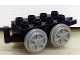 Part No: 4195c04  Name: Duplo, Train Base 2 x 4 with Pearl Light Gray Wheels